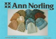 Spiral Rib Hat Neck Warmer Child Adult Knitting Instructions Ann Norling #54