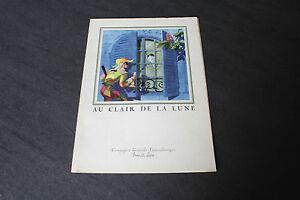 """(73) Menu Au clair de la lune French Line CGT """"Flandre"""" 23 septembre 1958"""