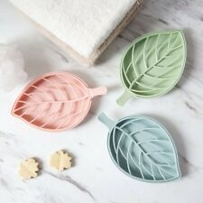 Soap Box Double Layer Leaf Shape Drain Soap Box Soap Storage Container
