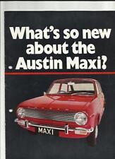 AUSTIN MAXI SALES BROCHURE LATE 60's