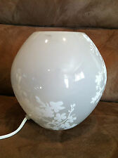 Pre-owned IKEA Round Glass  Table Desk Lighting Lamp White Flat Top N Bottom