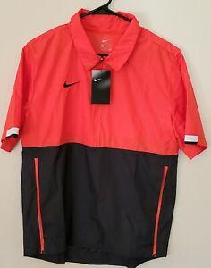 Nike Coaches Lightweight Jacket Orange Black CI4479-891  $65 Sz Medium Mens