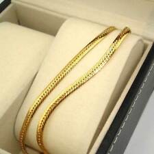 "18K Yellow Gold Filled Necklace 20""Chain 4mm Snake Link GF Charm Fashion Jewelry"