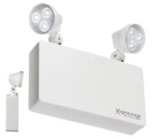 Knightsbridge 230V 6W LED BLANC DOUBLE SPOT non maintenu d'urgence projecteur