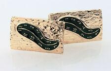 Visconti Salvador Dali green enamel and sterling silver Cufflinks