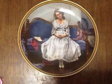 """N Rockwell """"Waiting At The Dance"""" 5th In The Rockwell's Rediscovered Women Plate"""