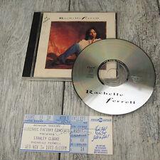 1992 Rachelle Ferrell - Self Titled CD - w/ Autographed 1993 Ticket Show Stub