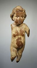 SUPERB LARGE ANTIQUE 17 / 18TH C EUROPEAN CARVED WOODEN PUTTI PUTTO CHERUB ANGEL