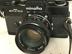 Minolta SRT303 35mm Camera with Rokkor PF lens