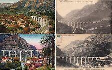 Lot 4 cartes postales anciennes GORGES DU LOUP viaduc 2