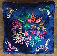 1 Small Blue Lace 37cm Christmas CUSHION COVER VELVET LIVING ROOM