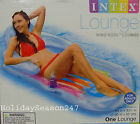 INTEX King Kool Lounge w/ Headrest Water Swimming Pool Raft Float Tube Flotation