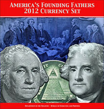2012 America's Founding Fathers Currency Set - Matching Numbers & Consecutive #s