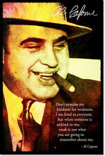 AL CAPONE ART PHOTO PRINT POSTER GIFT ORGANISED CRIME QUOTE