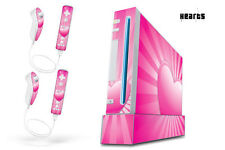 Skin Decal Wrap for Nintendo Wii Gaming Console & Controller Sticker HEARTS P