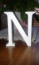 12 White Wooden Letters, Any A-Z, 13cm Large Letters