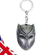 Black Panther Keyring - DC Marvel Avengers Mask - Gun Metal Silver