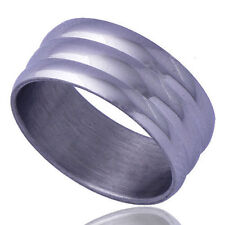 Simple Men's white stainless steel Crown Queen Eternity Band Rings Size 6