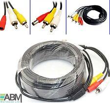 5m Meter HQ CCTV Phono RCA Video Audio AV DVR DC Power Cable Plug 5M Lead