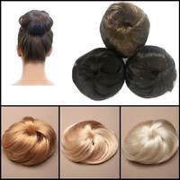 Bun Wig Hair Extension Imitation Women Fake Easy Tie IN Hairpiece Volume Styling