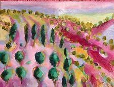 "SCARLETT Hills Of Santa Fe AN ORIGINAL ART, ACRYLIC PAINTING 9""x12"""