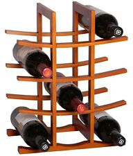 RTA La Pagode 12 Bottle Countertop Bamboo Wine Rack Dark Bamboo