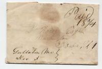 1842 Gallatin MO manuscript stampless folded letter [5246.392]