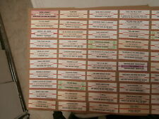 50 Original Jukebox Title Strips~Dave Clark Five~Madonna~Dean Martin~Etc~#2