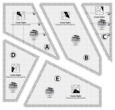 Creative Grids Scrap Crazier Eights Templates Quilt Ruler - Cgrmt7