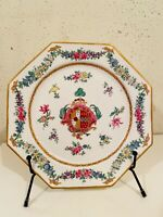 Samson Chinese Export Style Antique Porcelain Armorial Crested Plate