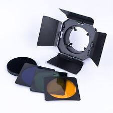 Abschirmklappen-Set mit Wabeneinsatz und 3 Farbfiltern für Studioblitz 75-95mm
