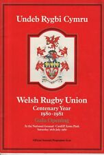 SOUVENIR PROGRAMME - WELSH RUGBY UNION CENTENARY YEAR - CARDIFF (16th July 1980)