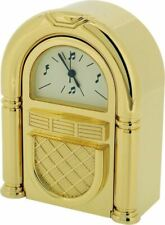 Gift Time Products Unisex Traditional Jukebox Miniature Clock - Gold