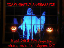 Scary Ghostly Halloween Window Projector Decorations Digital MP4 Disc FX