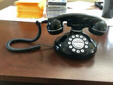 Home Retro Vintage Corded Telephone Home Black Old Fashioned Push Button Phone
