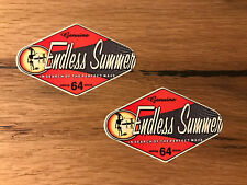 2x Autocollant Surfeur Surf Board WAVE USA Vintage Old School Retro Oldtimer #400