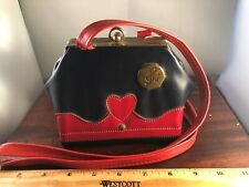 """Ultra Rare Vintage Heart Musical Miss Purse """"Brahm's Lullaby"""" 50's Music Box"""