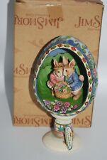 2006 Jim Shore #4007544 Display Of Affection Easter Egg Couple basket Diorama