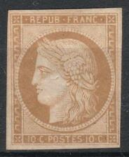 "FRANCE STAMP TIMBRE 1 "" CERES 10c BISTRE- JAUNE 1850 "" NEUF (x) TB A VOIR  M240"