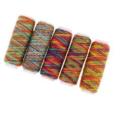 5 Spools Sewing Flat Thread Wires Strings For Hand Stitching Crafts