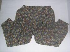 HAZEL Women's  Pull On Pants Size L, Elastic Waist, Elastic Cuffs,Front Pockets