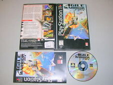 AGILE WARRIOR F-IIIX Long Box (PS1 PSX Sony Playstation 1) Complete CIB