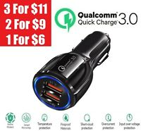 2 Port USB QC 3.0 Fast Car Charger for iPhone Samsung Google Cell Phone LG HTC