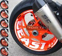 Aufkleber Felgenaufkleber KTM SuperDuke 1290 R SDR GT Felgenrandaufkleber 14-19