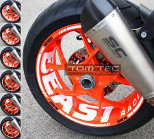 Aufkleber Felgenaufkleber KTM SuperDuke 1290 R SDR GT Felgenrandaufkleber 14-18