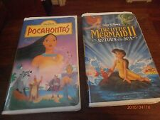 The Little Mermaid 11 Return to the Sea & Pocahontas 2 VHS Videos Not Rentals