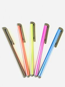 5x Thin Universal Touch Screen Stylus Pen For iPhone Samsung Huawei All Phones
