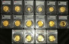 2006 to  2008 to 2018 Gold Buffalo proof set PCGS PR70 FS  17 coins total