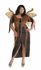 Autumn Fairy Adult Womens Costume Halloween Dress Wings Disguise Plus Size