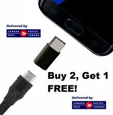 Black Micro USB to USB C 3.1 Type C Cable Adapter Female FREE Canadian Shipping!